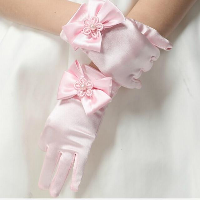 Toddler Girls' Solid Colored Gloves Blushing Pink / White / Black M / L