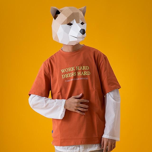 Mască Bijuterii de Vacanță Inspirat de Animal Galben Gri Cosplay Halloween Halloween Carnaval An Nou Adulți Bărbați Pentru femei