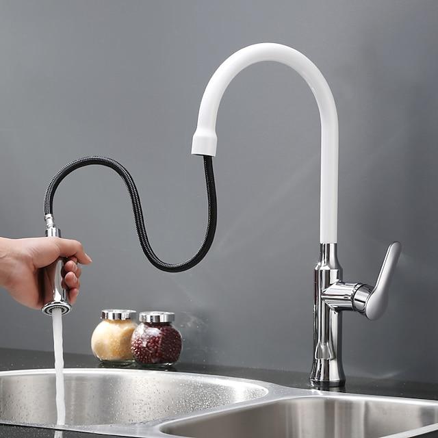 Kuchyňská vodovodní baterie - Single Handle jeden otvor Malované povrchové úpravy Pull-out / Pull-down / standardní Hubička Tezgah Üstü Moderní Kitchen Taps