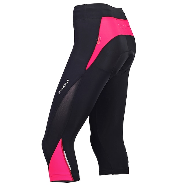 Nuckily Women's Cycling 3/4 Tights Summer Bike Pants Bottoms Breathable Sports Red / black / Bule / Black / Black Mountain Bike MTB Road Bike Cycling Clothing Apparel Advanced Relaxed Fit Bike Wear