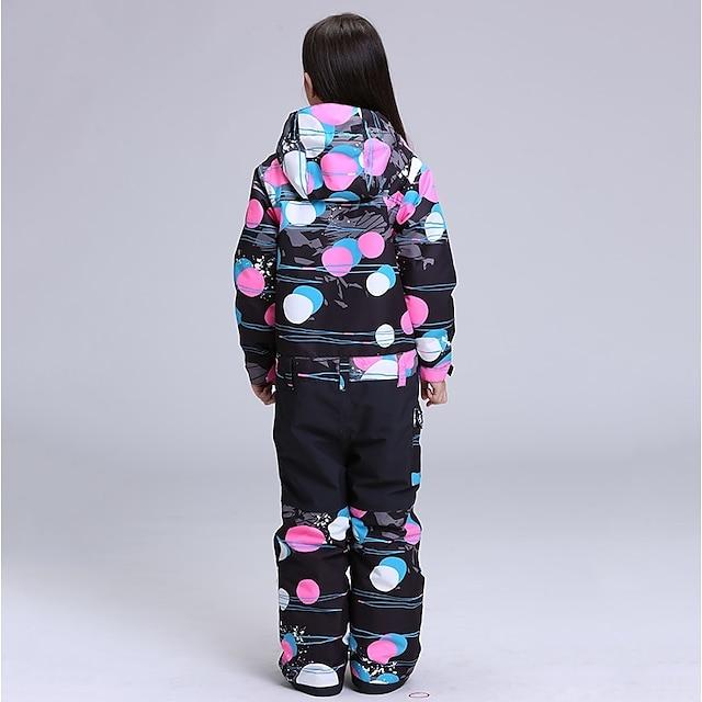 GSOU SNOW Girls' Ski Jacket with Pants Waterproof Windproof Warm Skiing Winter Clothing Suit for Ski / Snowboard Winter Sports / Kid's / Kids