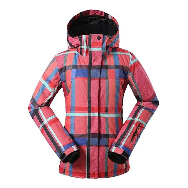 GSOU SNOW Women's Ski Jacket Snow Jacket Waterproof Ski Skiing Winter Sports Winter Top for Winter Sports