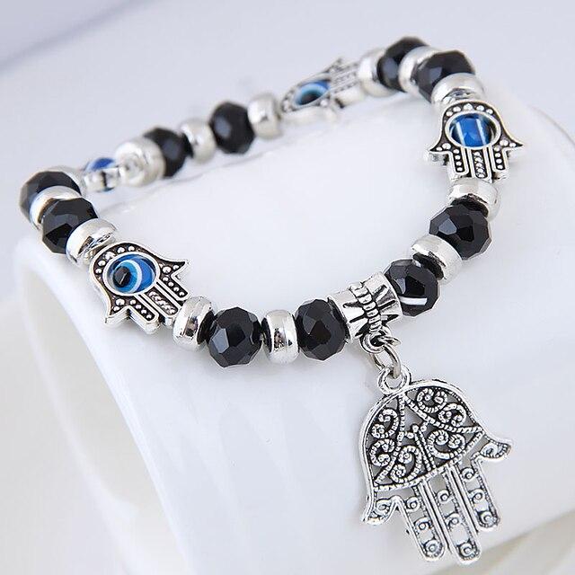 Dames Bedelarmbanden Kralenarmband kralen Kwaad oog Dames Etnisch Modieus Europees Legering Armband sieraden Paars / Rood / Blauw Voor Straat Dagelijks