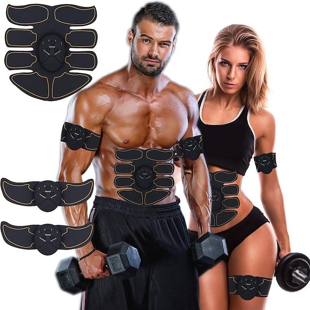 Estimulador ABS Cinto de Tonificação Abdominal EMS Abs Trainer 6 pcs Esportes Treino de Ginástica Exercício e Atividade Física Musculação Smart Electrónico Muskelstimulator Tonificação Muscular