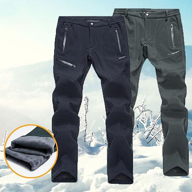 Men's Ski / Snow Pants Thermal Warm Waterproof Anatomic Design Wearable Autumn / Fall Warm Pants for Skiing Camping / Hiking Snowboarding / Winter / Spandex / Wool Flannel