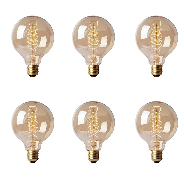 Ecolight™ 1pç 40 W E26 / E27 / E27 G80 Branco Quente 2300 k Incandescente Vintage Edison Light Bulb 220-240 V
