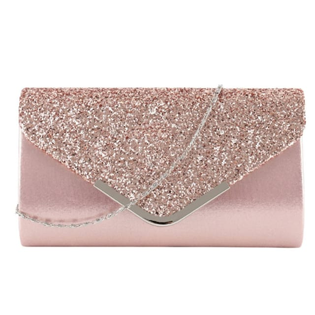 Women's Bags PU Leather Evening Bag Glitter Solid Color Glitter Shine Party Event / Party Holiday Evening Bag Wedding Bags Handbags Black Blushing Pink Gold Silver