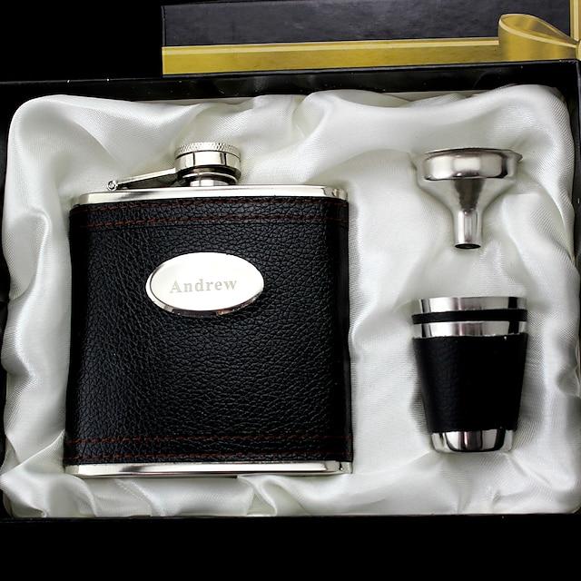 Personalized Stainless Steel Barware & Flasks Groom / Groomsman / Friends Wedding / Birthday