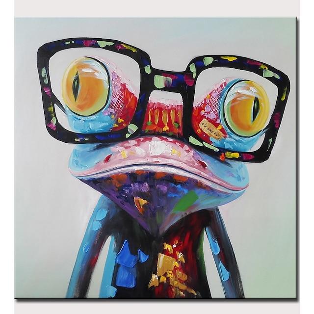 Hang malte oljemaleri Håndmalte Kvadrat Abstrakt Pop Kunst Moderne Valset lerret (uten ramme)
