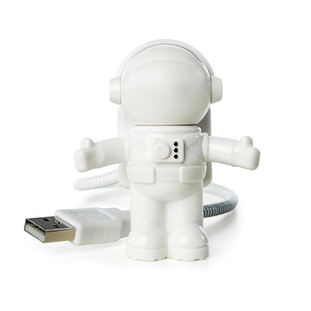 ywxlight® usb vedl nastavitelné noční světlo v pohodě nový kosmonaut kosmonaut pro počítač pc lampu stolní světlo čistě bílé