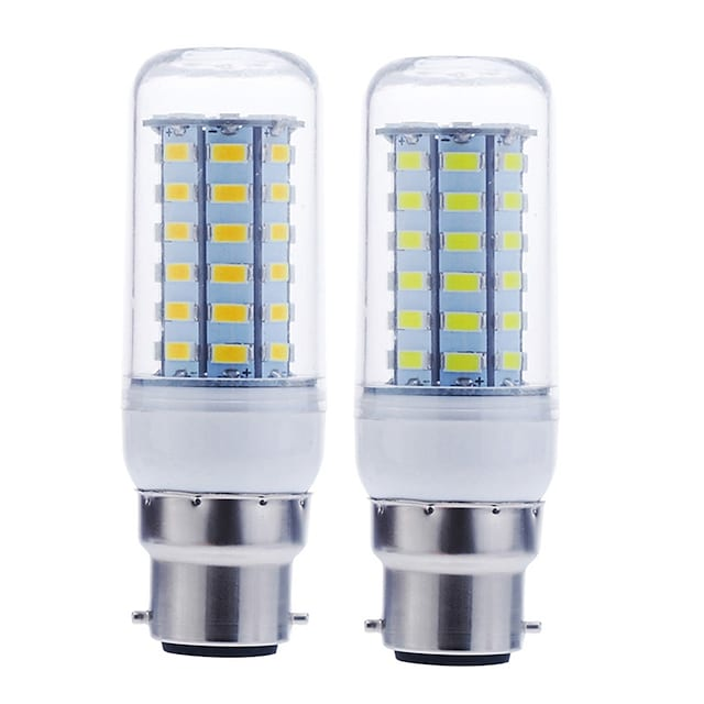 1pc 12 W LED Corn Lights 1600-1900 lm B22 56 LED Beads SMD 5730 Decorative Warm White Cold White 220-240 V 110-130 V / RoHS