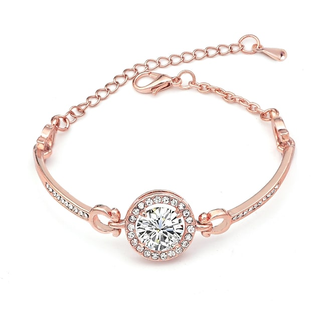 Women's Clear Crystal Classic Cheap Fashion Alloy Bracelet Jewelry Rose Gold / Champagne / Silver For Daily Date