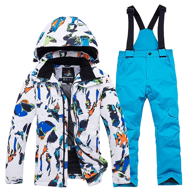 ARCTIC QUEEN Boys' Jumpsuit Ski Suit Thermal Warm Waterproof Windproof Fast Dry Autumn / Fall Tracksuit for Skiing Camping / Hiking Snowboarding / Winter / Girls' / Kids / Quick Dry / Breathable