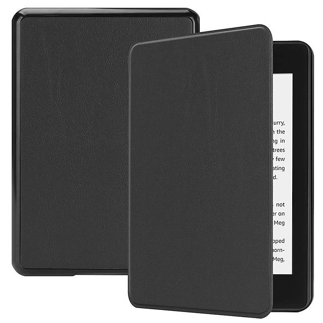 telefon fodral Till Amazon Fodral Kindle Paper White 4 Stötsäker med stativ Magnet Enfärgad Hårt PU läder