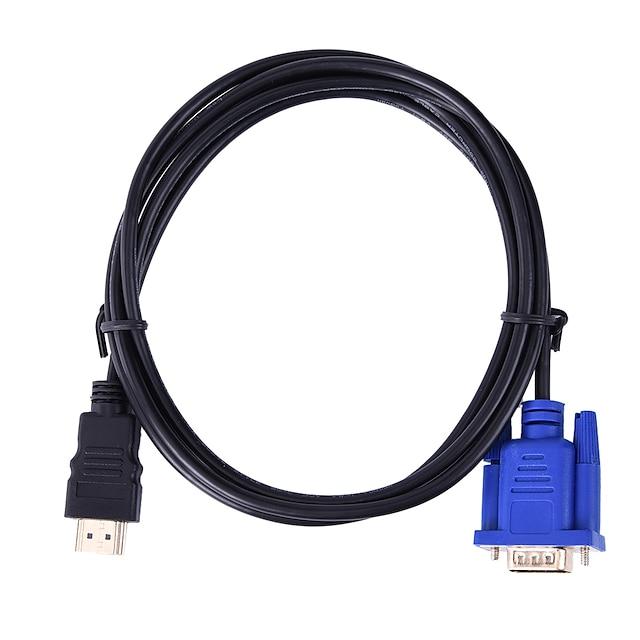 hdmi-kompatibel 1.4 adapterkabel hdmi-kompatibel 1.4 till vga adapterkabel hane - hane 1080p 1,8 m (6ft) endast för tvbox videospelare utgång till tv projektor monitor