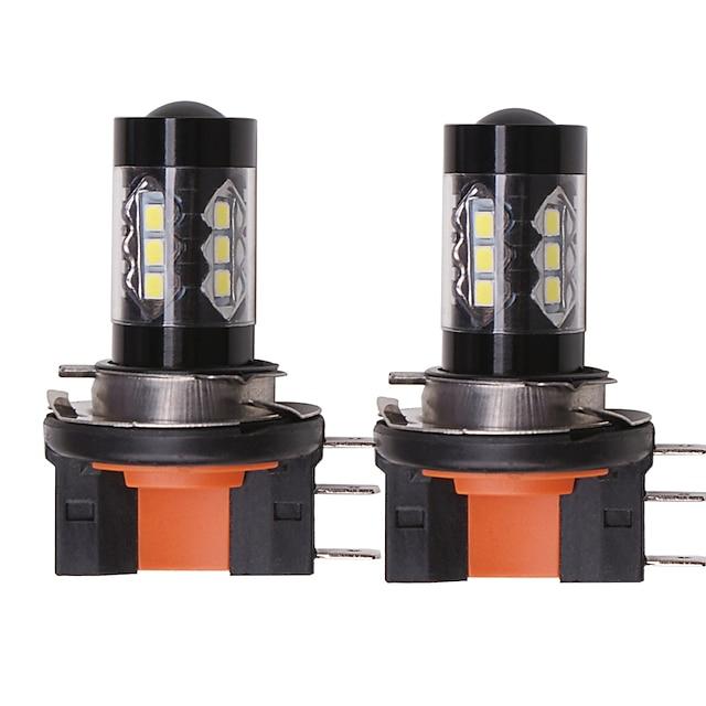 OTOLAMPARA Automatique LED Lampe Frontale H15 Ampoules électriques 1550 lm SMD 335 80 W 16 Pour Volkswagen / Gué Tiguan / Le golf / S-Max Toutes les Années 2 pièces