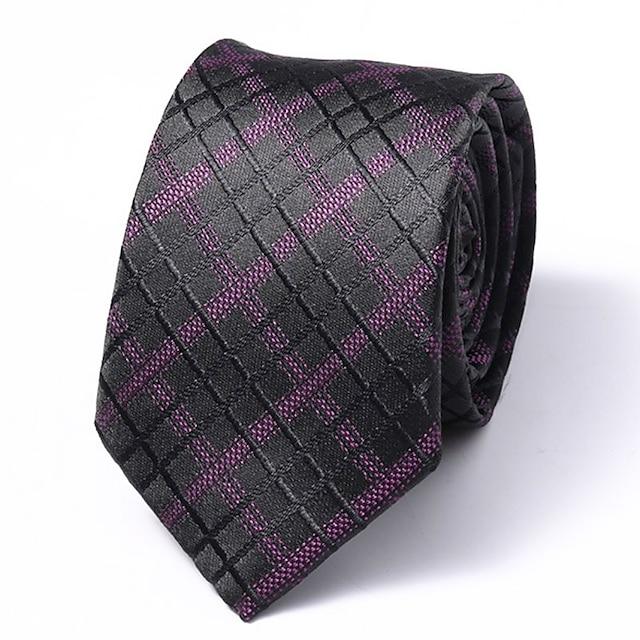 남성용 작업 / 오피스 / 베이직 넥타이 - 줄무늬