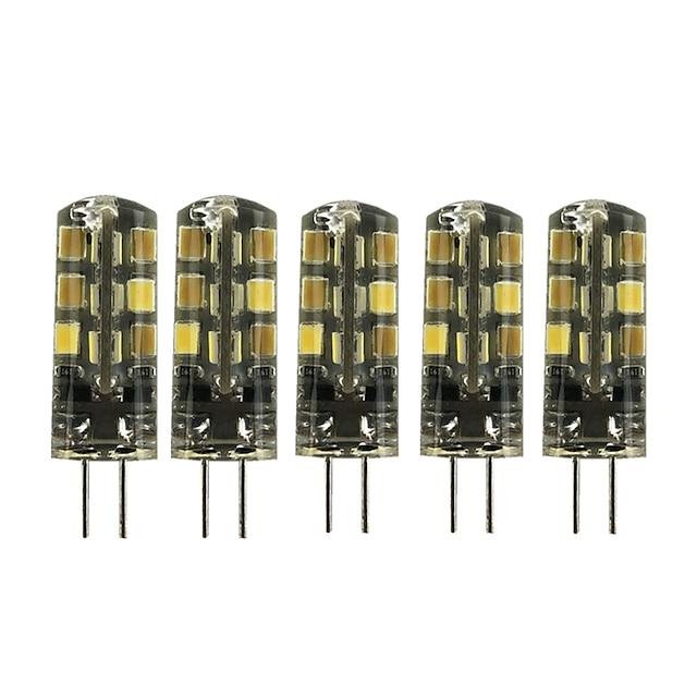 5pcs 2 W LED Bi-pin 조명 180 lm G4 T 24 LED 비즈 SMD 2835 러블리 따뜻한 화이트 차가운 화이트 12 V