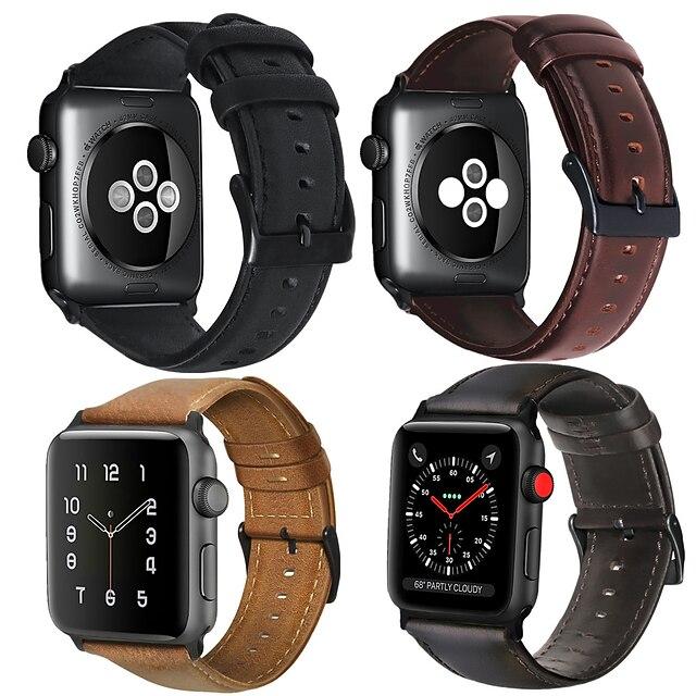 Cinturino intelligente per Apple  iWatch 1 pcs Cinturino di pelle Vera pelle Sostituzione Custodia con cinturino a strappo per Apple Watch Serie SE / 6/5/4/3/2/1 38 millimetri 40 mm 42 millimetri 44mm