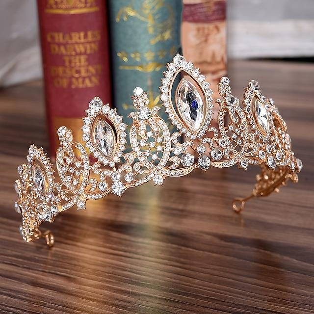 Rhinestone / Alloy Crown Tiaras with Crystal / Rhinestone 1 PC Wedding Headpiece