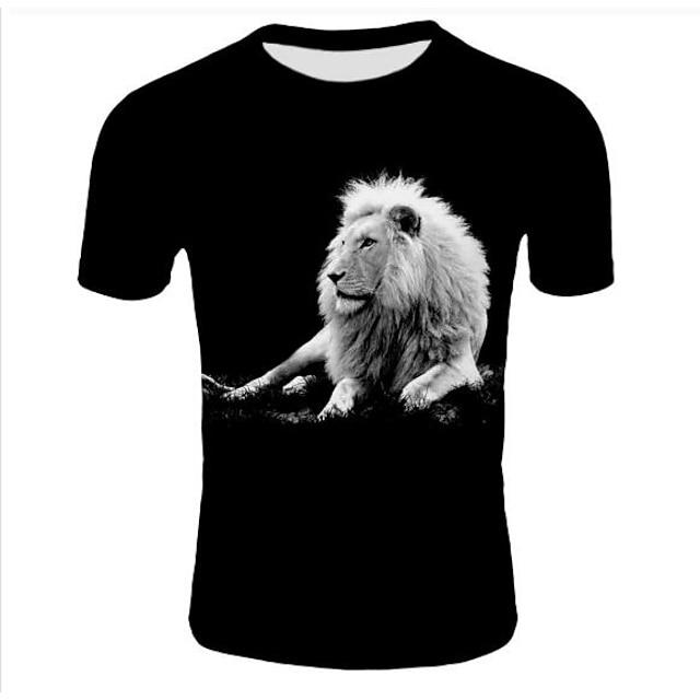 Hombre Camiseta 3D Tallas Grandes Estampado Tops Negro