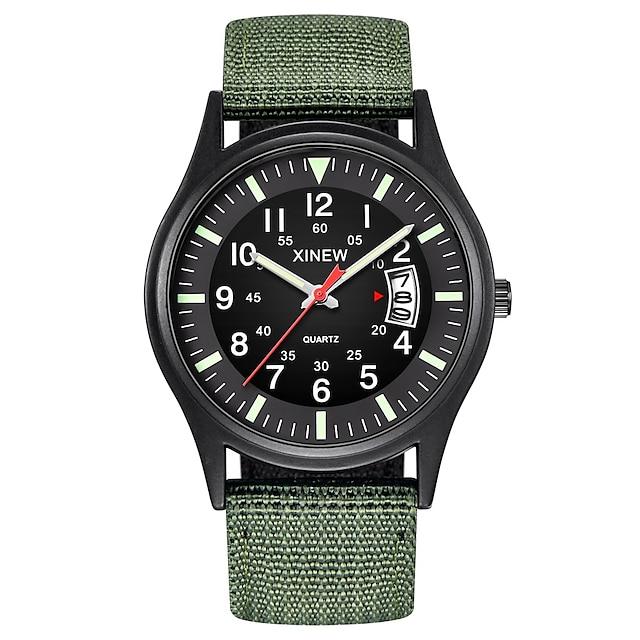 Bărbați Ceas Militar Analogic Cuarţ Clasic Calendar / dată / zi Cronograf / Un an / SSUO 377