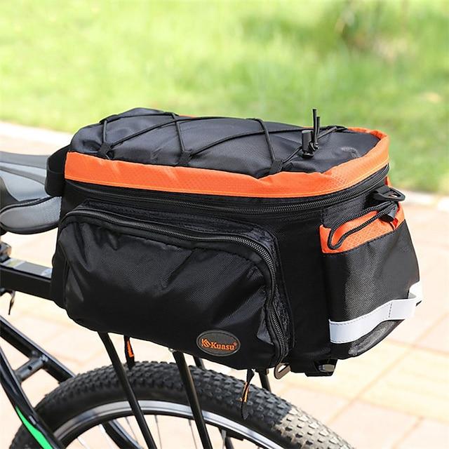 10 L Borsa posteriore da bici / Portapacchi da bici Coprizaino Ompermeabile Leggero Assorbimento urti Borsa da bici Terylene Nylon Marsupio da bici Borsa da bici