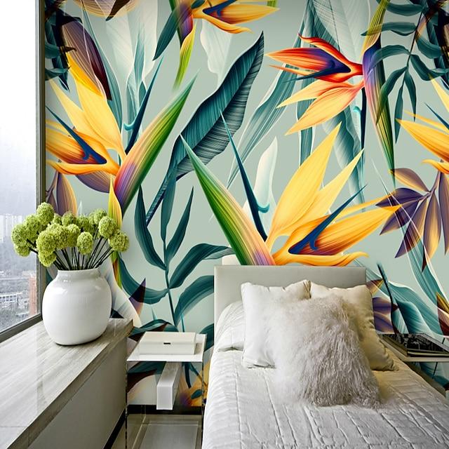 papier peint mural autocollant mural couvrant impression adhésif requis tropical feuille de palmier toile décor à la maison