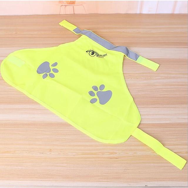 애완견 용품 고양이 용품 조끼 프린트 단순한 보통 캐쥬얼 / 데일리 강아지 의류 강아지 옷 개 의상 옐로우 코스츔 소녀와 소년 개 폴리 에스터