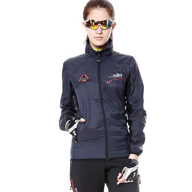 산 정상 여성용 긴 소매 싸이클 자켓 겨울 다크 그레이 한 색상 플러스 사이즈 자전거 윈드브레이커(바람막이) 탑스 산악 자전거 로드 사이클링 스포츠 의류 / 스트레치 / 애슬레저 / 통기성