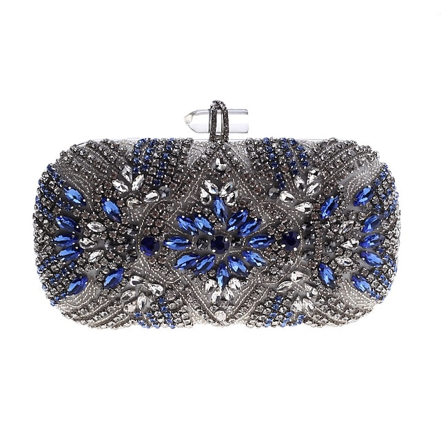 Women's Bags Acrylic Alloy Evening Bag Buttons Crystals Party Event / Party Daily Evening Bag Wedding Bags Handbags Silver