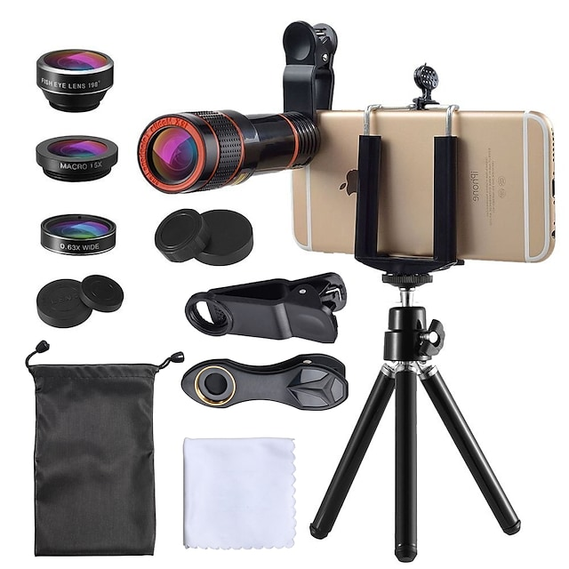Lentille de téléphone portable Lentille de fisheye / Longue Distance Focale / Lentille Grand Angle verre / Plastique X10 et plus 35 mm 15 m 198 ° Lentille avec Support