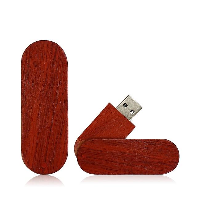 Ants 128GB στικάκι usb δίσκο USB 2.0 Ξύλινο / Μπαμπού Ακανόνιστο wooden U disk