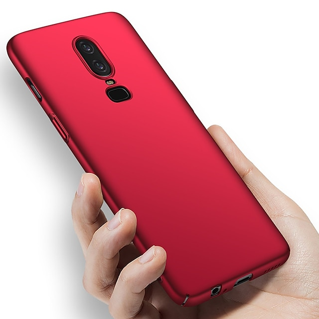 هاتف غطاء من أجل OnePlus غطاء كامل للجسم ون بلس 6 تي ون بلس 5 OnePlus 5T OnePlus 6 ضد الصدمات نحيف جداً مثلج لون الصلبة قاسي الكمبيوتر الشخصي