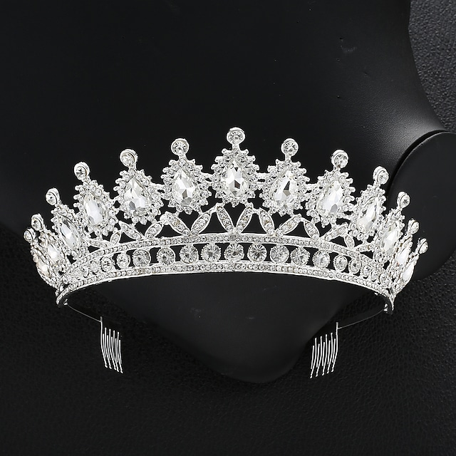 Crystal / Alloy Crown Tiaras with Crystal 1 PC Wedding / Special Occasion Headpiece