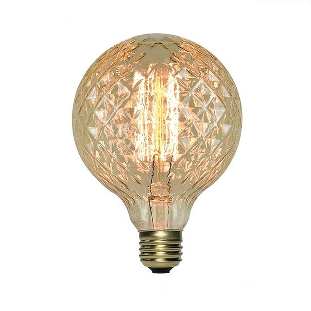 1 pc 40 W E26 / E27 G95 Ampoule à incandescence Vintage Edison 220-240 V / 110-130 V
