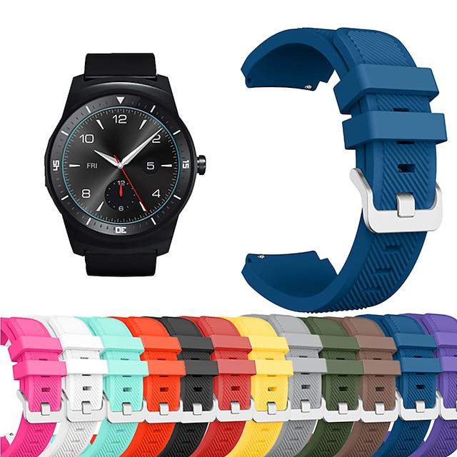 Bracelet de montre connectée pour LG 1 pcs Bracelet Sport Silicone Remplacement Sangle de Poignet pour LG G Watch W100 LG G Watch R W110 LG Watch Urbane W150 22 mm