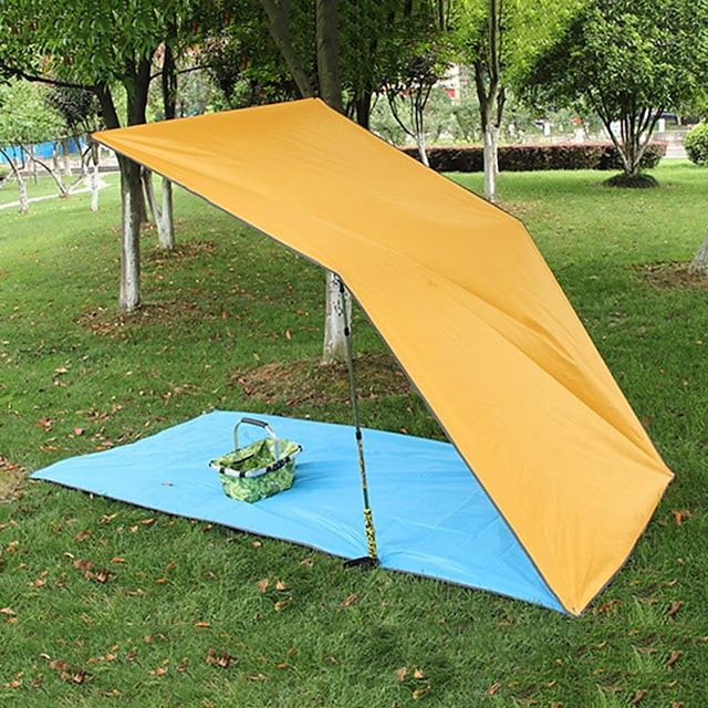 Colchoneta de dormir Toldos para Tienda de Campaña Al aire libre Cámping Utra ligero (UL) Grueso 220*300 cm para Camping / Senderismo Cámping Todas las Temporadas Azul Naranja Verde