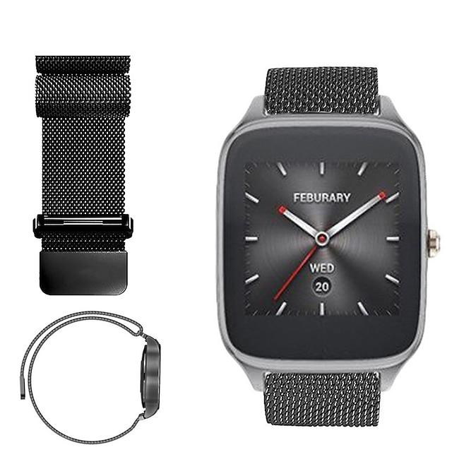 Smartwatch bånd til Asus 1 pcs Sportsrem Milanesisk rem Rustfrit stål Udskiftning Håndledsrem til Asus ZenWatch 2 Asus ZenWatch 22 mm