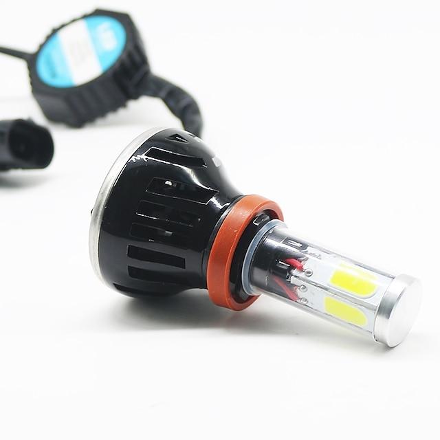 2 stuks Automatisch LED Mistlamp Koplamp H7 H4 H3 Lampen 8000 lm COB 25 W 6000-6500 k 2 Voor Alle jaren