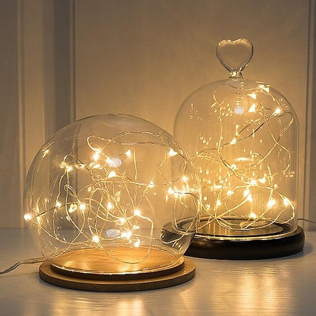 3 м серебряная проволока светодиодная гирлянда сказочные огни праздничное освещение для рождественской елки гирлянда украшение для свадебной вечеринки