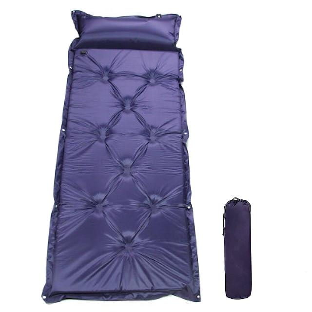 Sovemåtte Selvopustende sovepose Luftpude Udendørs Camping Oppustet Polyester Taft til Campering & Vandring Rejse Udendørs