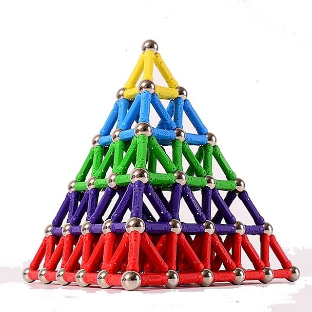 Magnetische blokken Magnetische stokken Magnetische tegels Bouwstenen 103 pcs Creatief Deursticker Speelgoed bouwen Allemaal Speeltjes Geschenk / 14 jaar en ouder