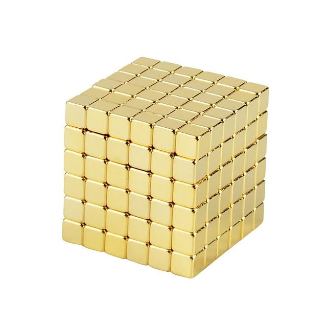 216 pcs 3mm Jouets Aimantés Blocs Magnétiques Bâtons Magnétiques Carreaux magnétiques Aimant Cube SUV Pâte Magnétique Jouet de mise au point Soulage ADD, TDAH, Anxiété, Autisme Thème classique Créatif