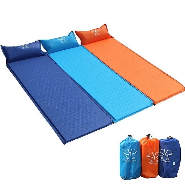 Sheng yuan Sovemåtte Selvopustende sovepose Air Pad Gør det dobbelt Udendørs Camping Bærbar Varmeisolering Fugtsikker Ultra Lys (UL) PVC PVC presenning 185*65 cm for 1 Person Vandring Camping Rejse