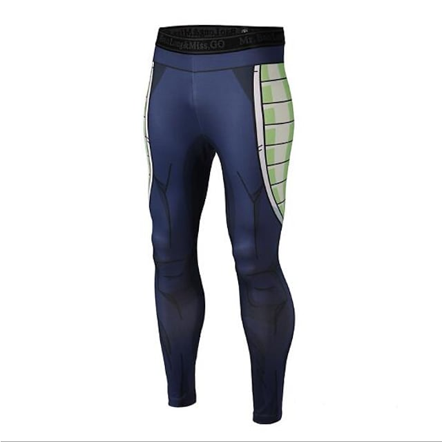Vansydical® Men's Running Tights Leggings Athletic Pants / Trousers Leggings Gym Workout Exercise & Fitness Running Quick Dry Compression Lightweight Materials Sport