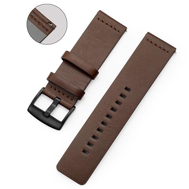 Smart Watch Band mert LG 1 pcs Sportszíj Valódi bőr Csere Csuklópánt mert LG G Watch W100 LG G Watch R W110 LG Watch Urbane W150 22mm