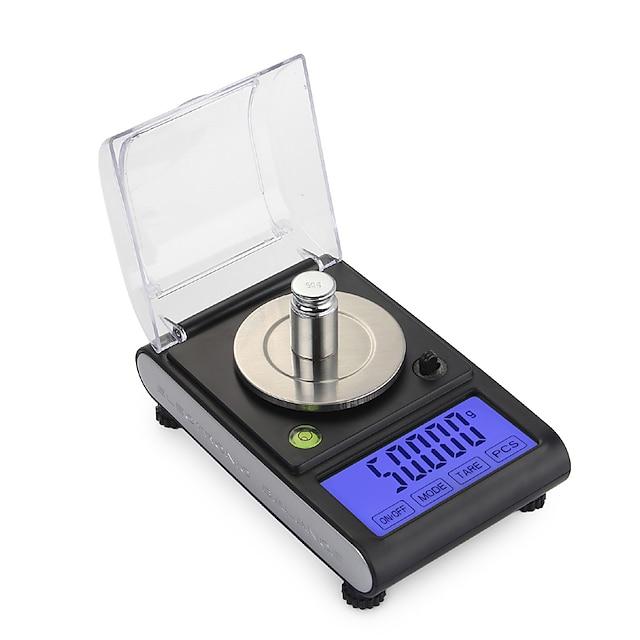 0.005g 50g haute précision laboratoire balance de poids de laboratoire bijoux diamant herbes grammes en or numérique balances électroniques