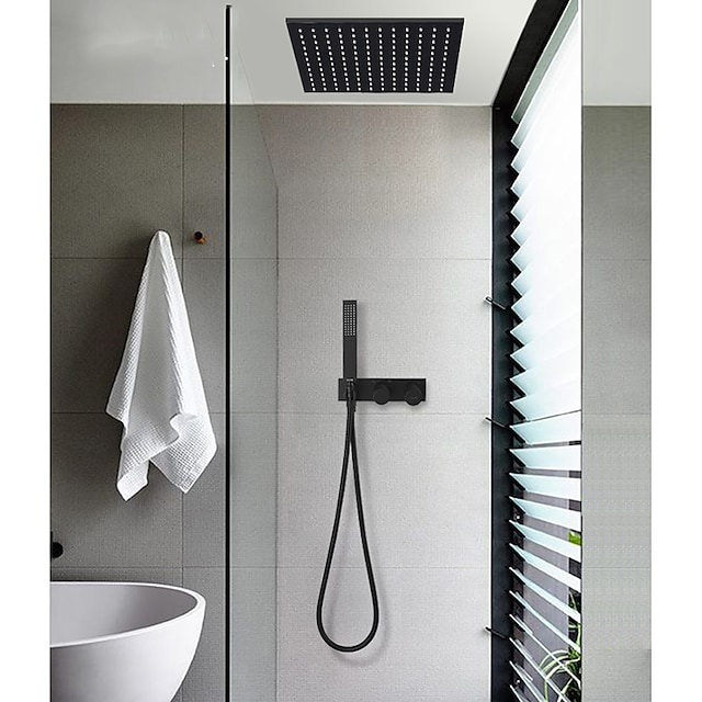 Shower Faucet - Contemporary / Antique Painted Finishes Other Ceramic Valve Bath Shower Mixer Taps
