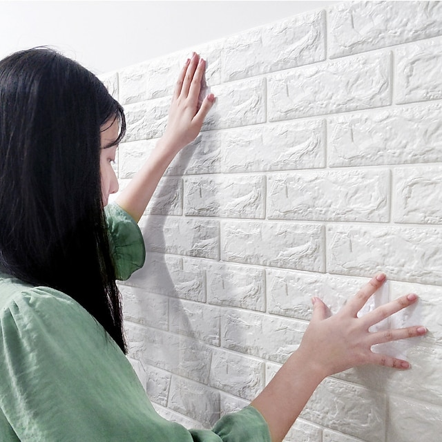 DIY pe 거품 3d 벽돌 자체 접착 벽 스티커베이스 보드 장식 교통 / 풍경 연구실 / 사무실 / 식당 / 주방 60 * 30cm